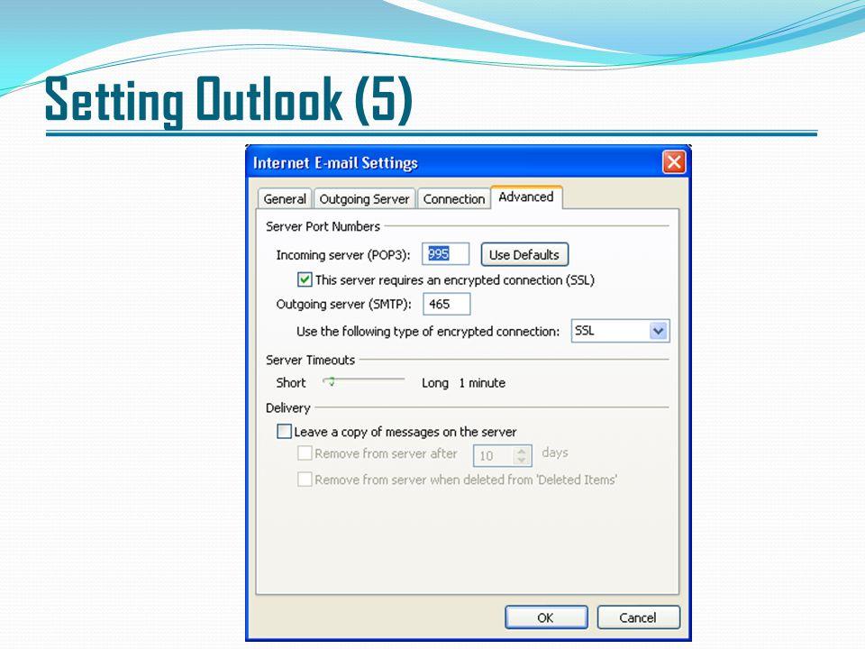 Setting Outlook (5)