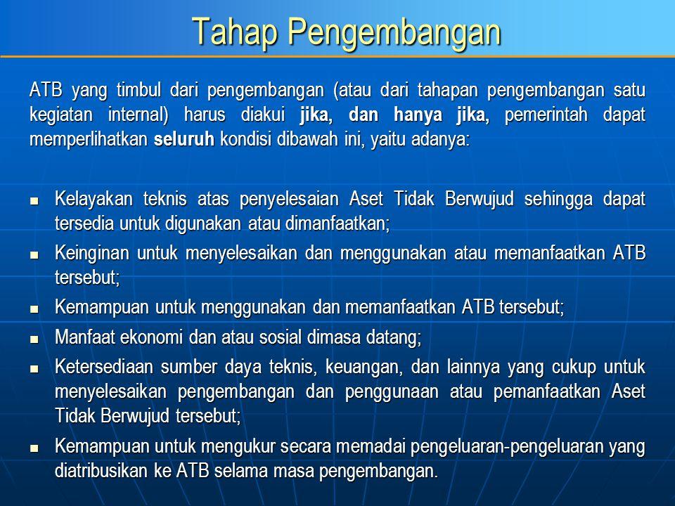 Tahap Pengembangan ATB yang timbul dari pengembangan (atau dari tahapan pengembangan satu kegiatan internal) harus diakui jika, dan hanya jika, pemeri