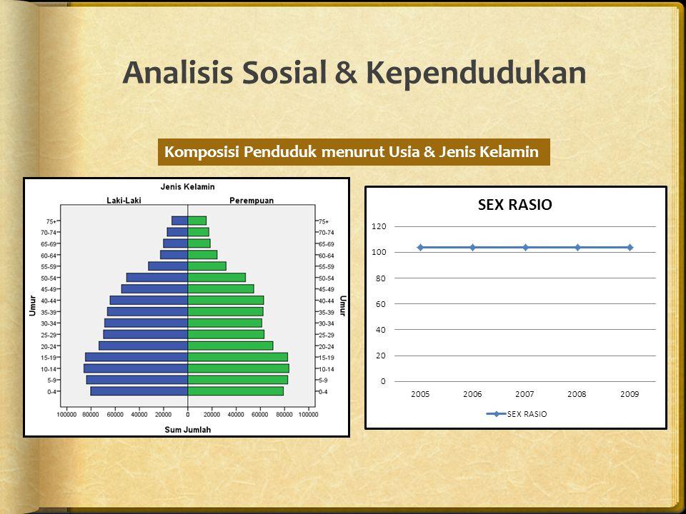 Analisis Sosial & Kependudukan Komposisi Penduduk menurut Usia & Jenis Kelamin