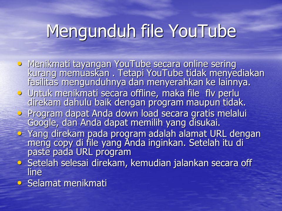 Mengunduh file YouTube Menikmati tayangan YouTube secara online sering kurang memuaskan.