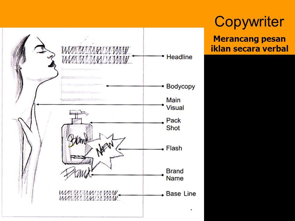 6 Copywriter Merancang pesan iklan secara verbal