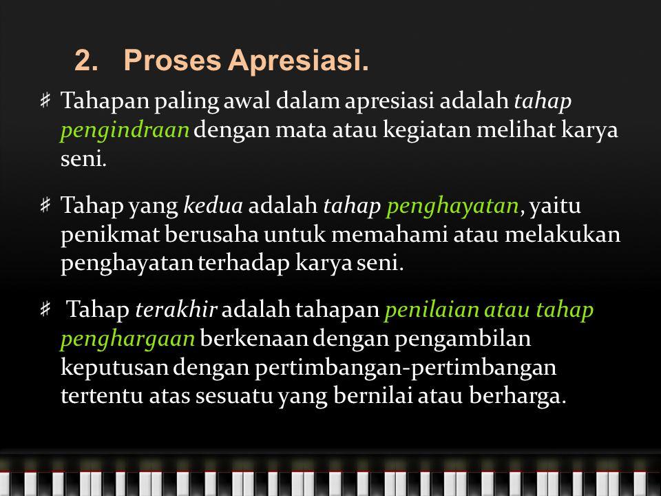 2.Proses Apresiasi.