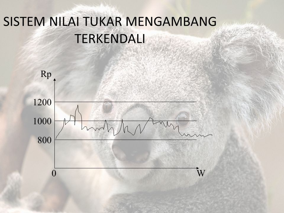 SISTEM NILAI TUKAR MENGAMBANG TERKENDALI Rp 1200 1000 800 0W