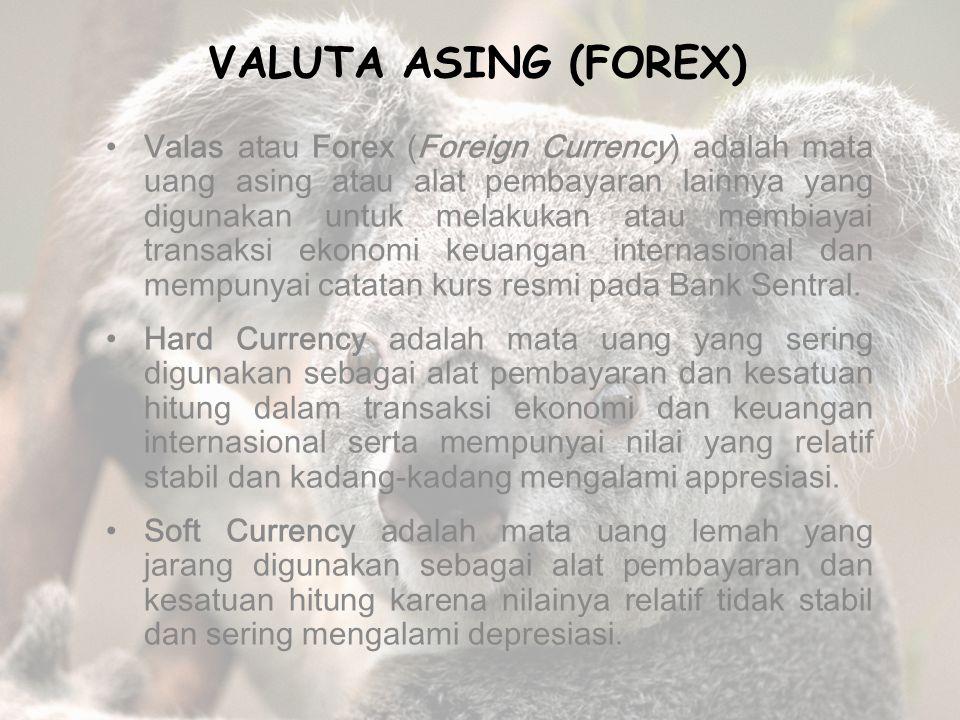 Macam-macam alternatif sistem kurs mata uang