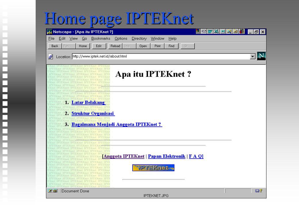 Home page IPTEKnet
