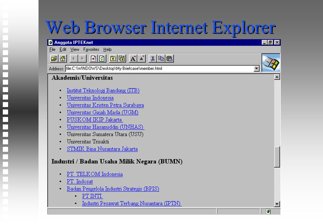 Web Browser Internet Explorer
