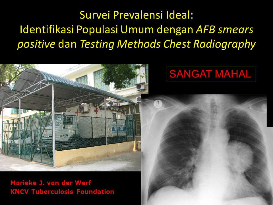 Survei Prevalensi Ideal: Identifikasi Populasi Umum dengan AFB smears positive dan Testing Methods Chest Radiography SANGAT MAHAL Marieke J. van der W