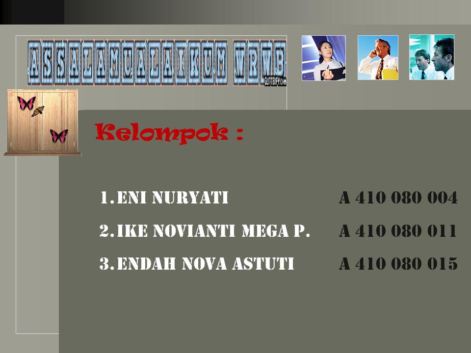 LOGO Kelompok : 1.Eni Nuryati A 410 080 004 2.Ike Novianti Mega P.
