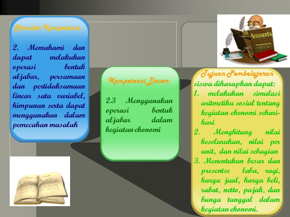 LOGO Standar Kompetensi : 2.