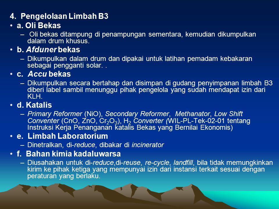 4.Pengelolaan Limbah B3 a.