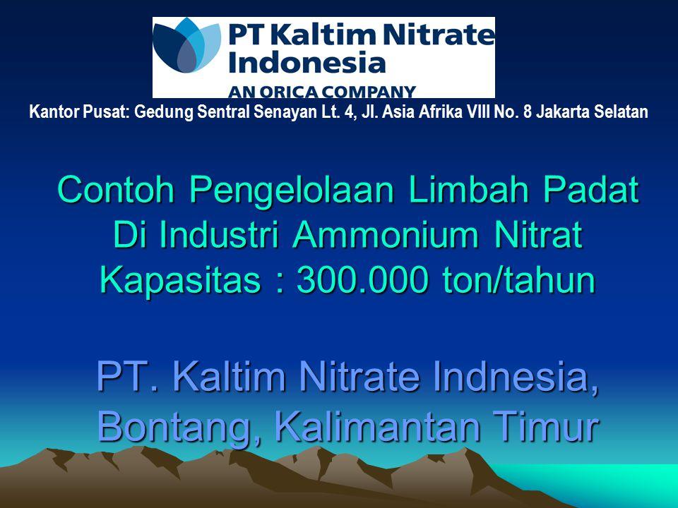 Contoh Pengelolaan Limbah Padat Di Industri Ammonium Nitrat Kapasitas : 300.000 ton/tahun PT.