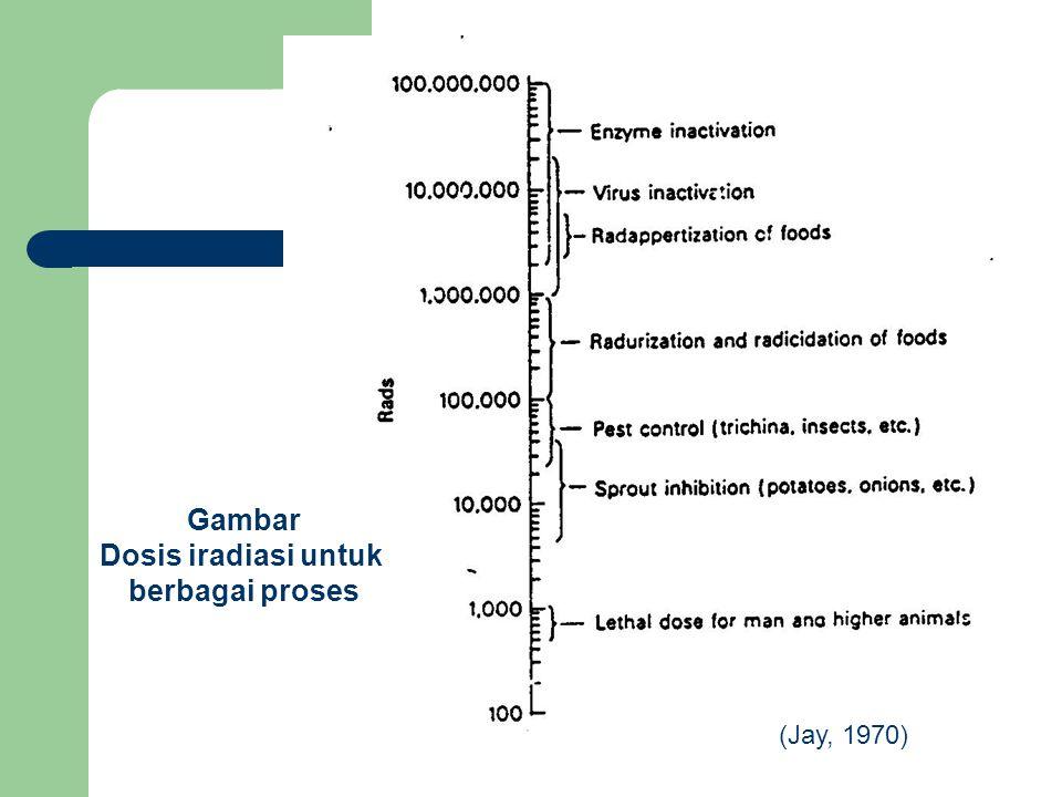 Gambar Dosis iradiasi untuk berbagai proses (Jay, 1970)