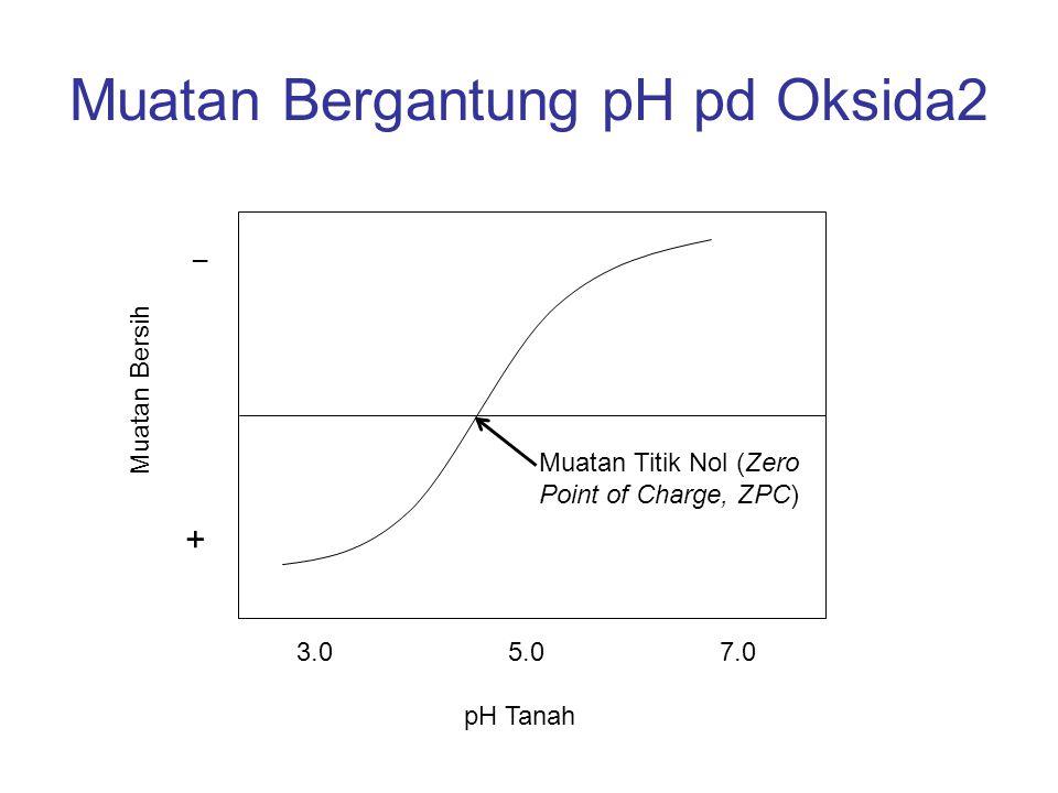 Pertukaran Kation Bahan Organik –Merupakan sumber KTK yg sangat penting –Muatan mineral2 ini tidak berasal dari substitusi isomorfik seperti pada lempeng mineral liat aluminosiliat.