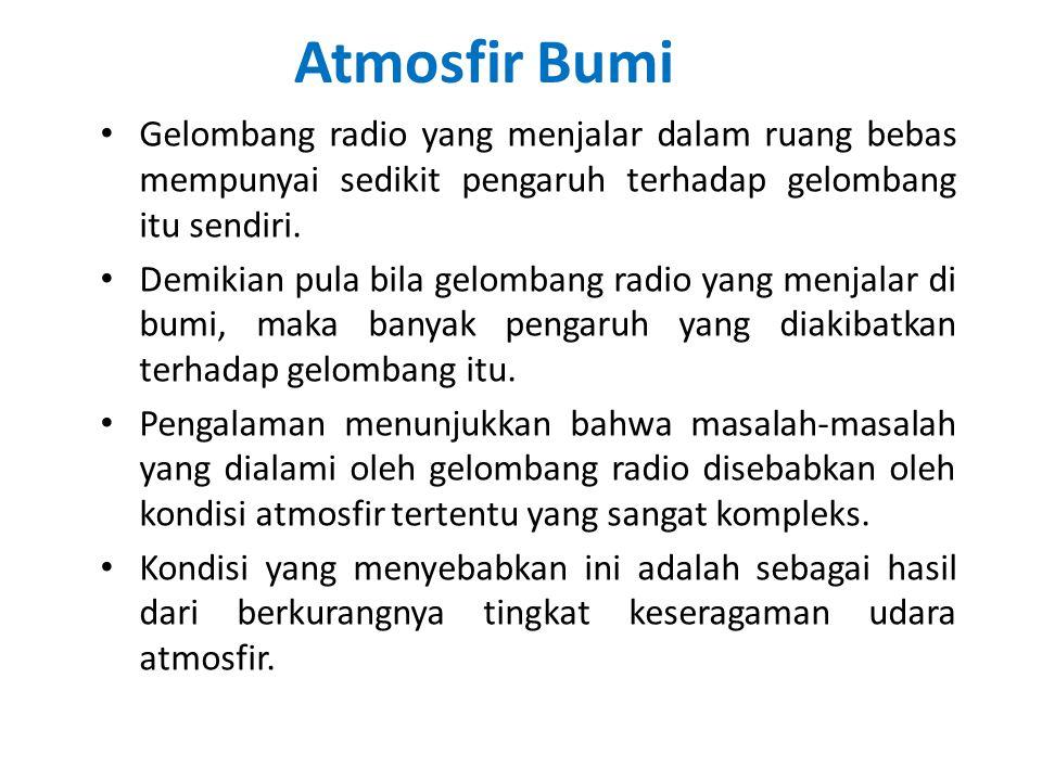 Atmosfir Bumi Gelombang radio yang menjalar dalam ruang bebas mempunyai sedikit pengaruh terhadap gelombang itu sendiri. Demikian pula bila gelombang