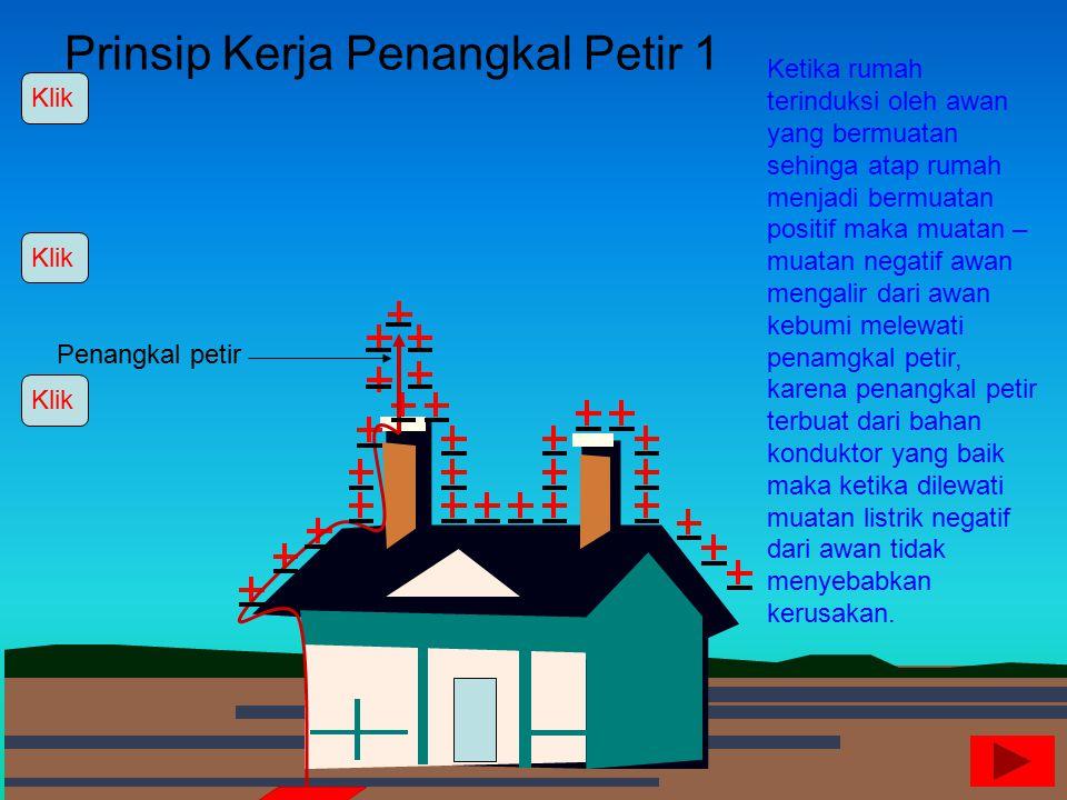 Kilat Karena rumah memiliki hambatan yang besar maka ketika dilewati elektron dalam jumlah yang besar rumah akan mengalami kerusakan, artinya rumah te