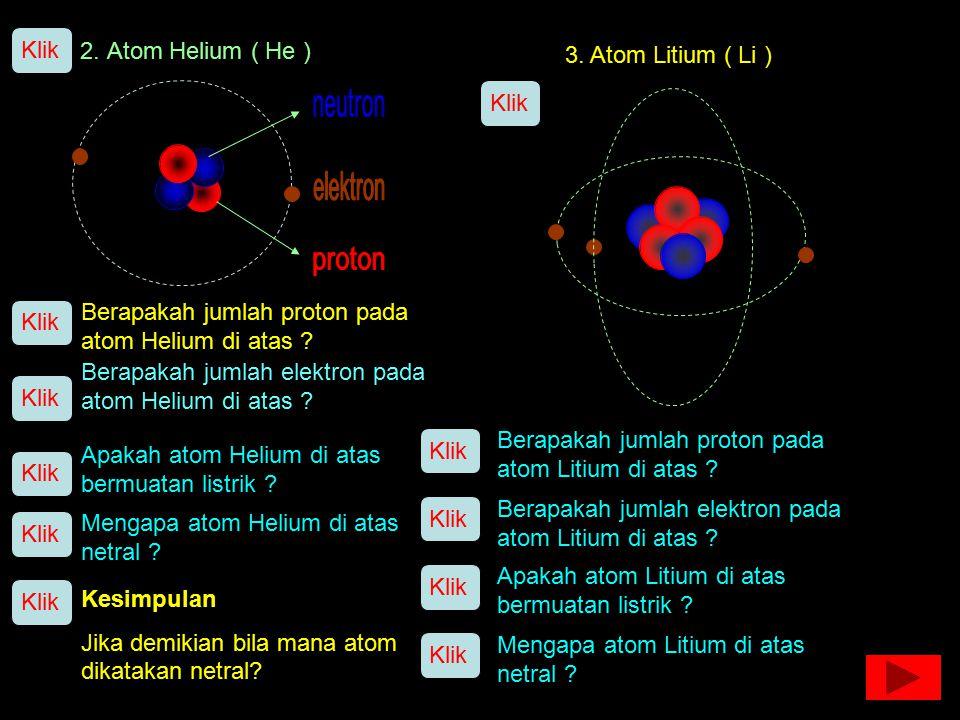Model Atom 1. Atom Hidrogen ( H ) Klik