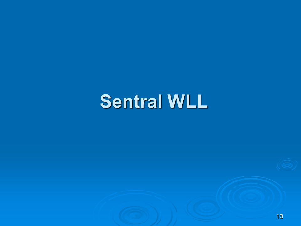 13 Sentral WLL Sentral WLL