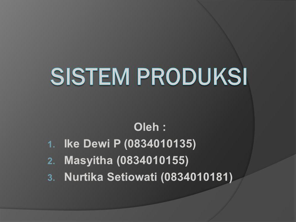 Oleh : 1. Ike Dewi P (0834010135) 2. Masyitha (0834010155) 3. Nurtika Setiowati (0834010181)
