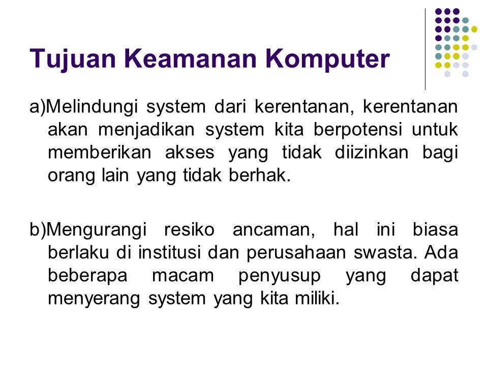 c) Melindungi system dari gangguan alam seperti petir dan lain-lainnya.