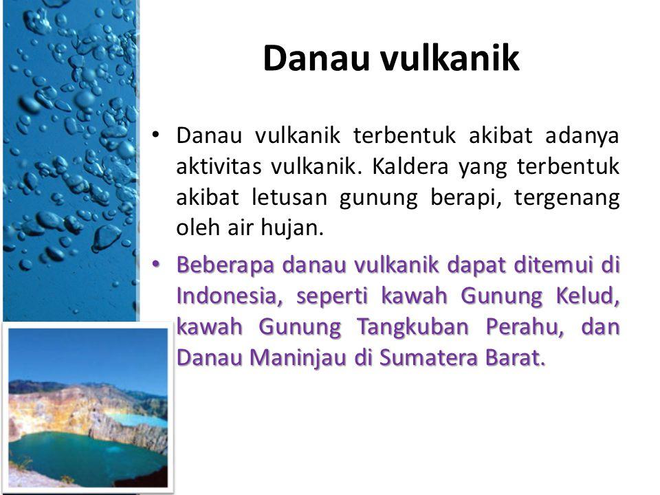 Danau tektonik Danau tektonik terbentuk akibat gerakan lempeng tektonik.