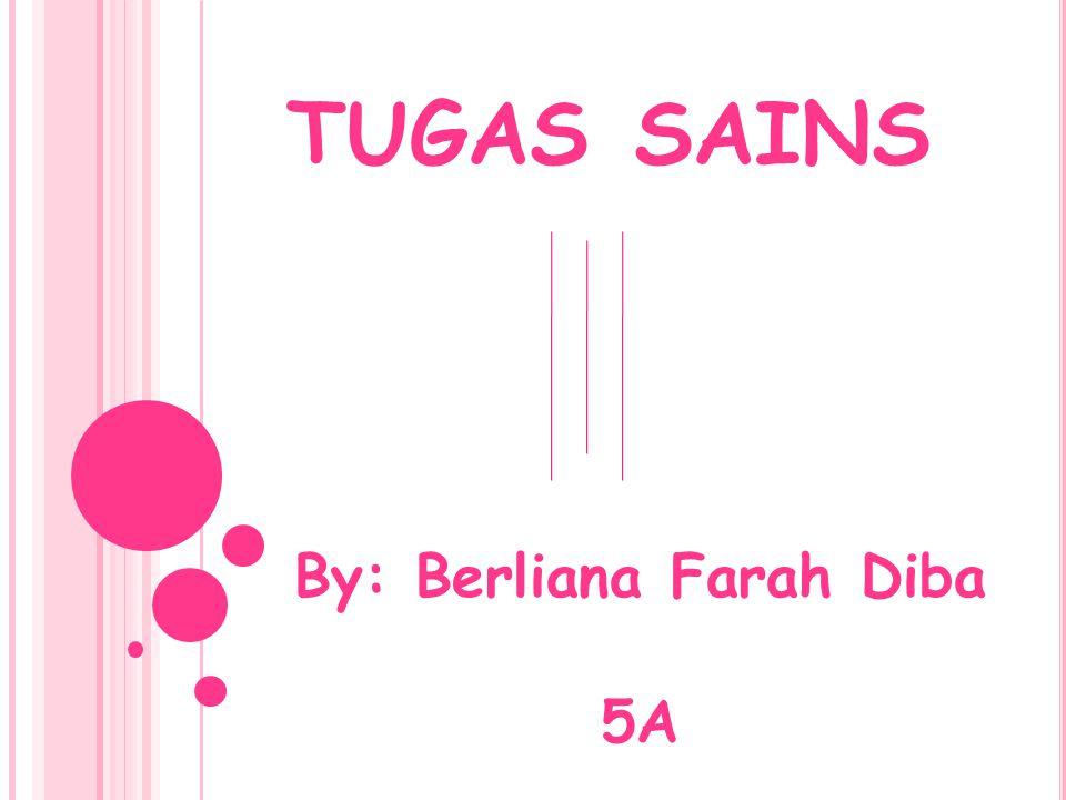 TUGAS SAINS By: Berliana Farah Diba 5A