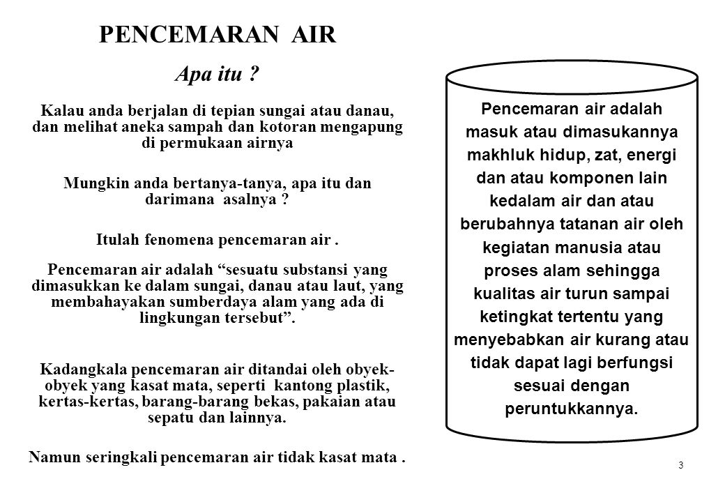 BERAGAM BENTUK PENCEMARAN AIR A process for the removal of metal ions from solution and means for effecting such removal are described.