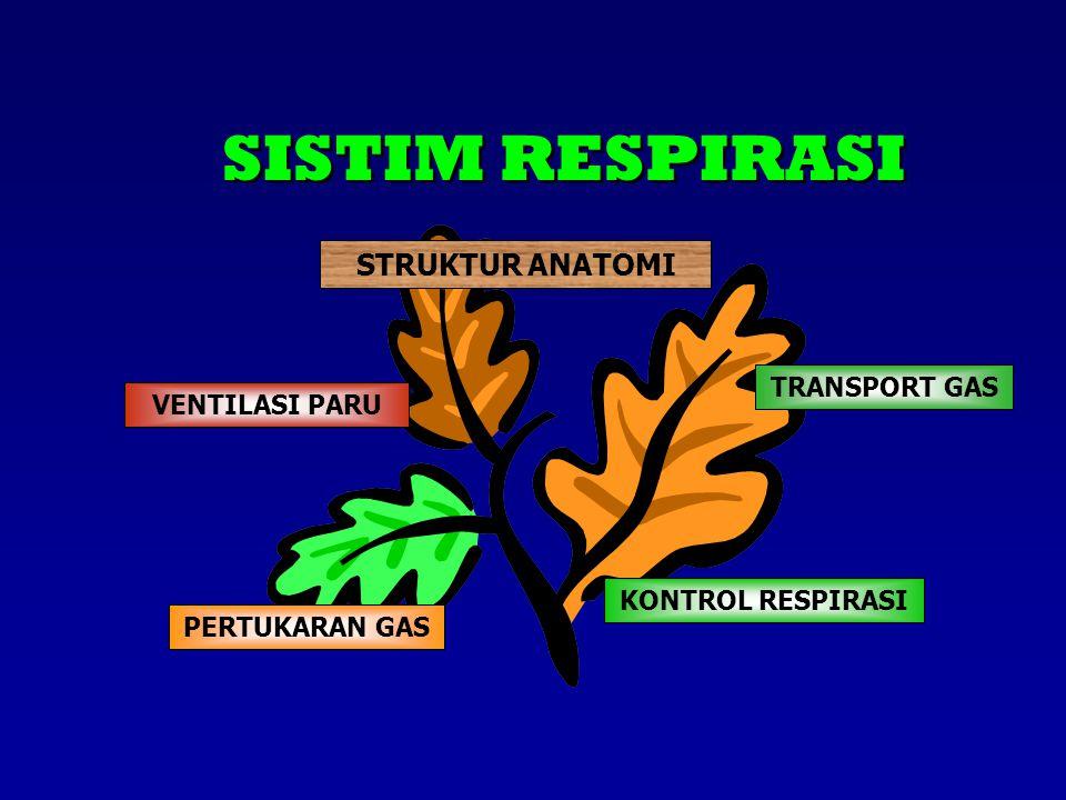STRUKTUR ANATOMI KONTROL RESPIRASI PERTUKARAN GAS VENTILASI PARU TRANSPORT GAS SISTIM RESPIRASI