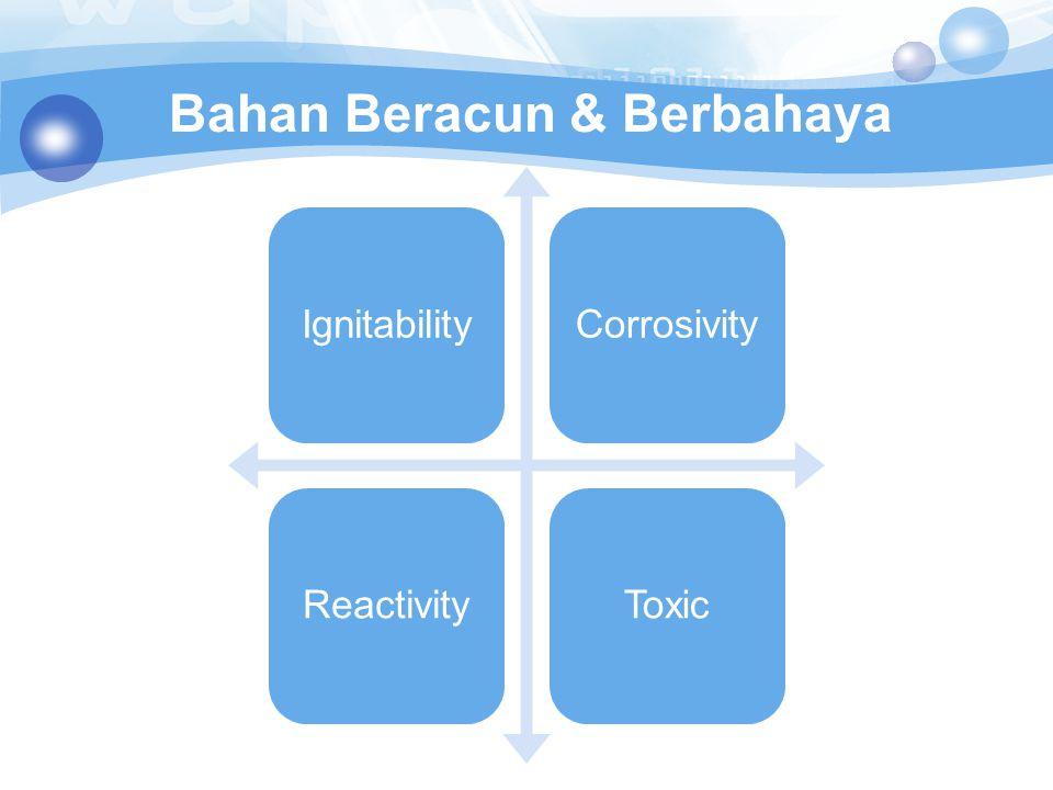 Bahan Beracun & Berbahaya IgnitabilityCorrosivityReactivityToxic