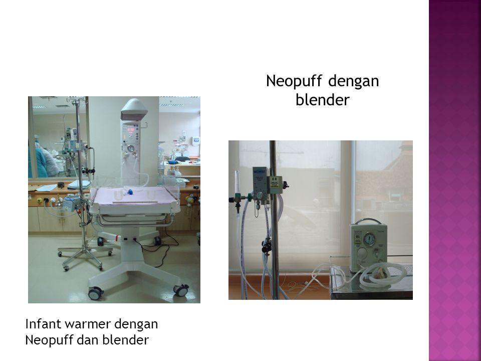 Neopuff dengan blender Infant warmer dengan Neopuff dan blender
