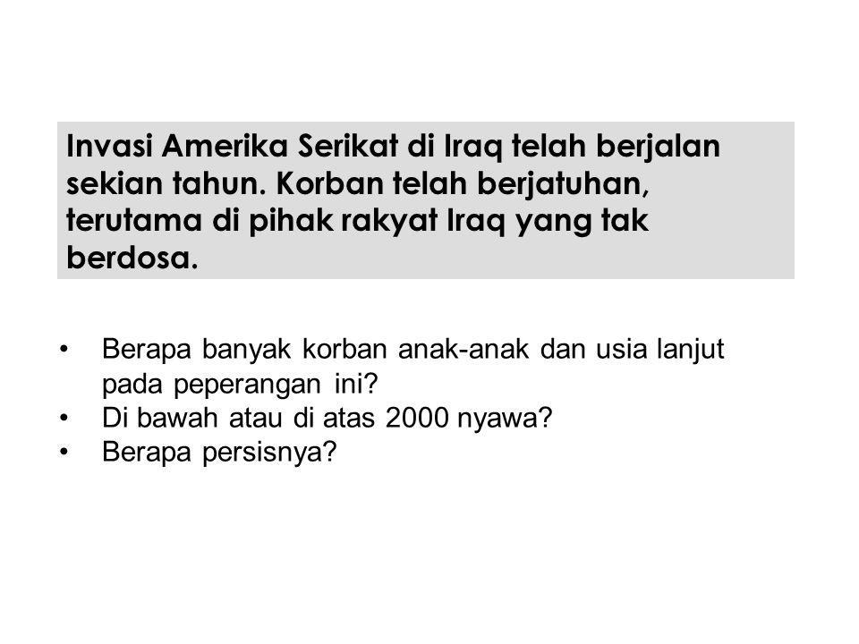 Invasi Amerika Serikat di Iraq telah berjalan sekian tahun. Korban telah berjatuhan, terutama di pihak rakyat Iraq yang tak berdosa. Berapa banyak kor