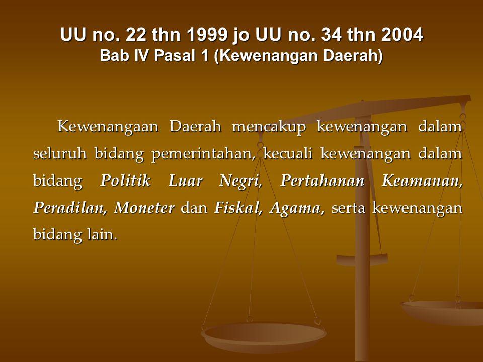 UU no.22 thn 1999 jo UU no.