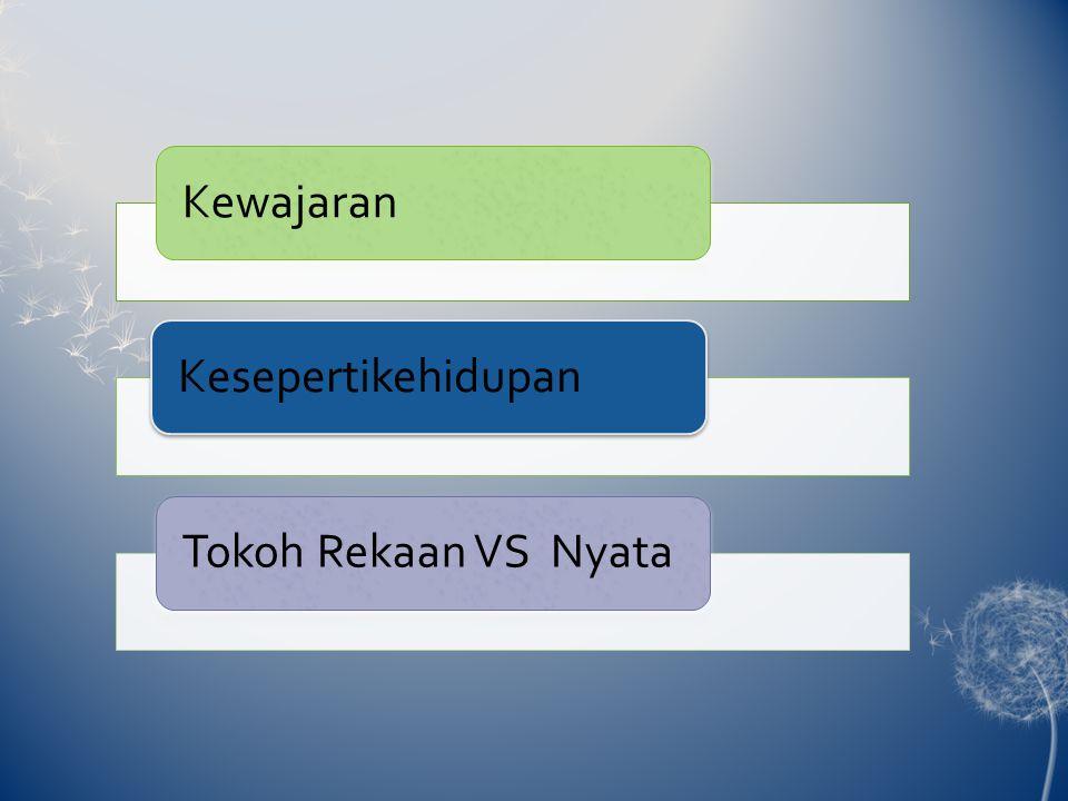 KewajaranKesepertikehidupan Tokoh Rekaan VS Nyata