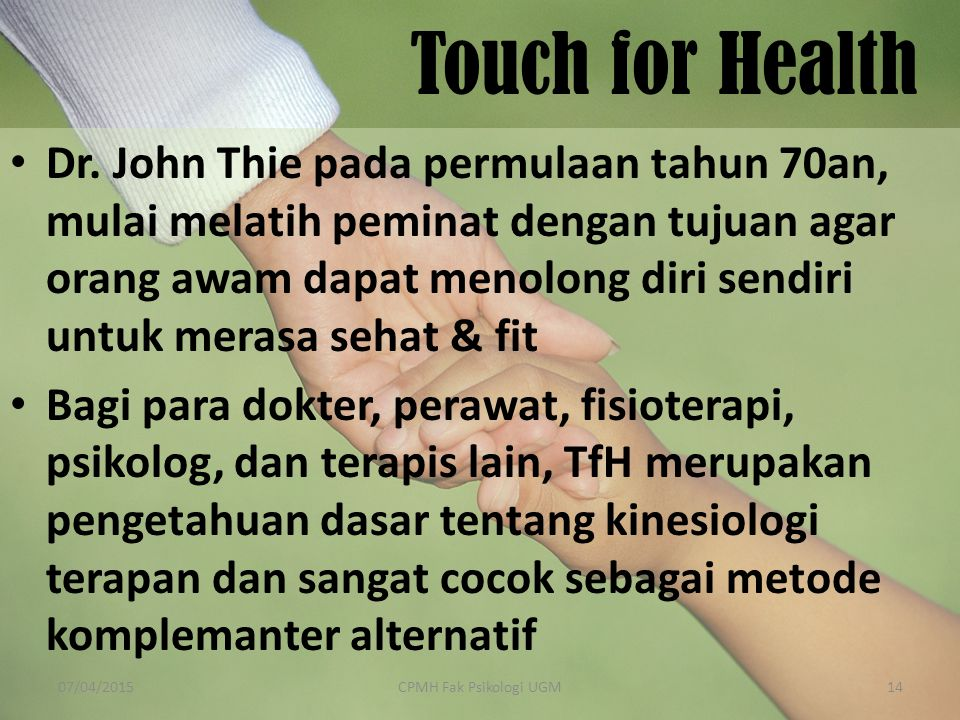 Touch for Health Dr.