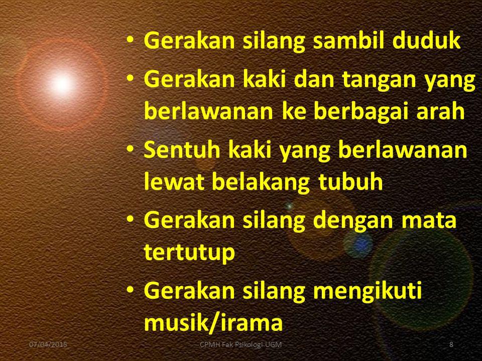 Titik positif 07/04/201519CPMH Fak Psikologi UGM