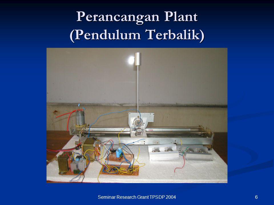 6Seminar Research Grant TPSDP 2004 Perancangan Plant (Pendulum Terbalik)