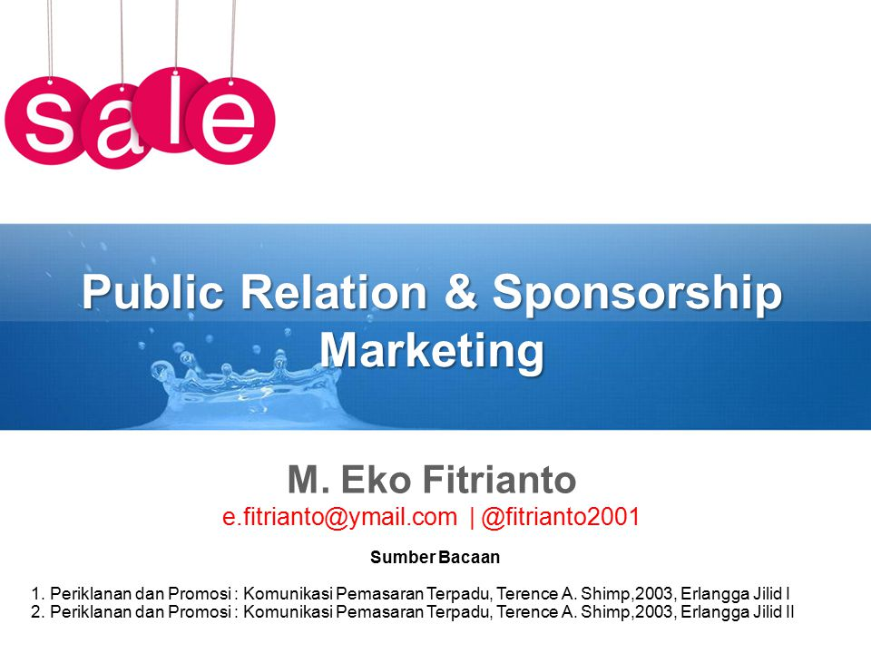 Public Relation & Sponsorship Marketing M.