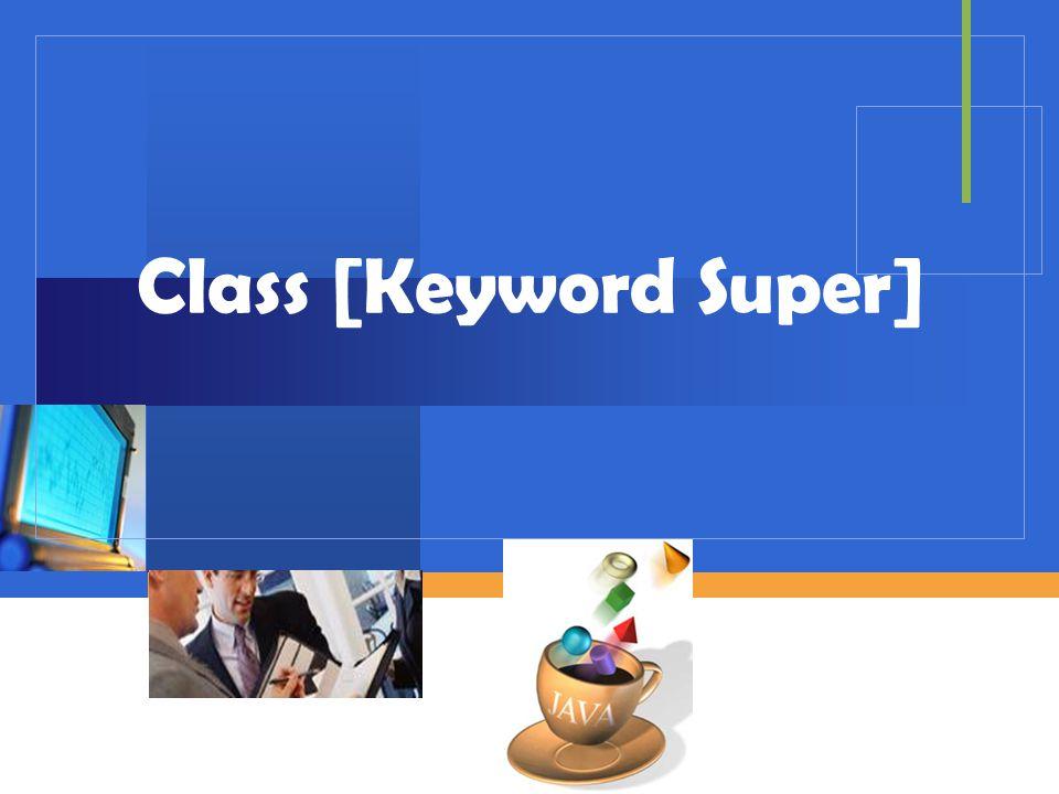 Company LOGO Class [Keyword Super]