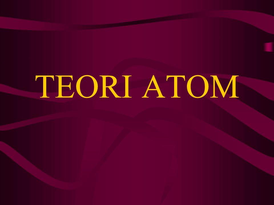DEFINISI ATOM Salah satu konsep ilmiah tertua adalah bahwa semua materi dapat dipecah menjadi zarah (partikel) terkecil, dimana partikel- partikel itu tidak bisa dibagi lebih lanjut.