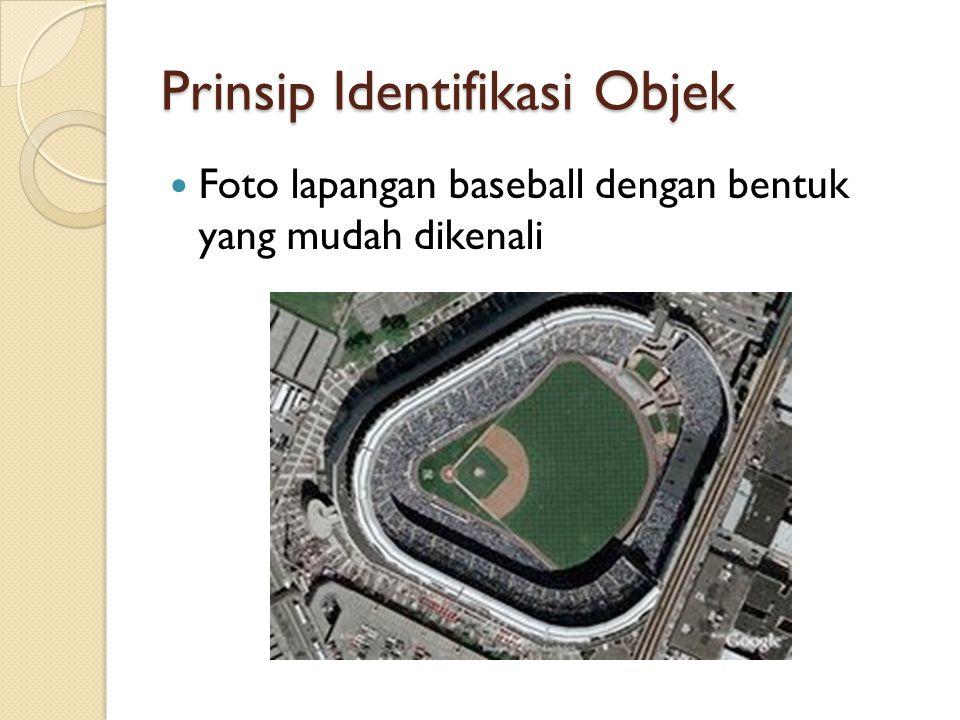 Prinsip Identifikasi Objek Foto lapangan baseball dengan bentuk yang mudah dikenali