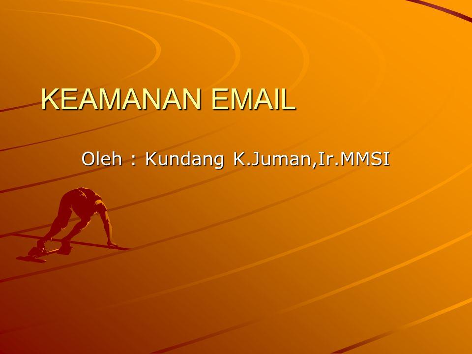 KEAMANAN EMAIL Oleh : Kundang K.Juman,Ir.MMSI