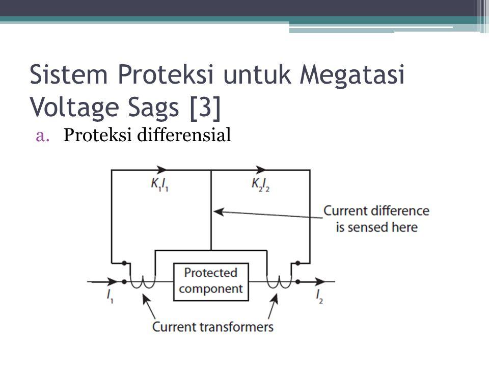 Sistem Proteksi untuk Megatasi Voltage Sags [3] a.Proteksi differensial