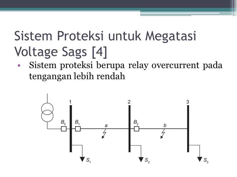 Sistem Proteksi untuk Megatasi Voltage Sags [4] Sistem proteksi berupa relay overcurrent pada tengangan lebih rendah