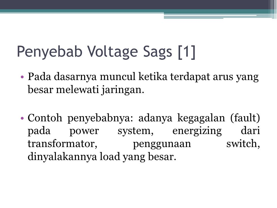 Sistem Proteksi untuk Megatasi Voltage Sags [2] a.Proteksi Jarak