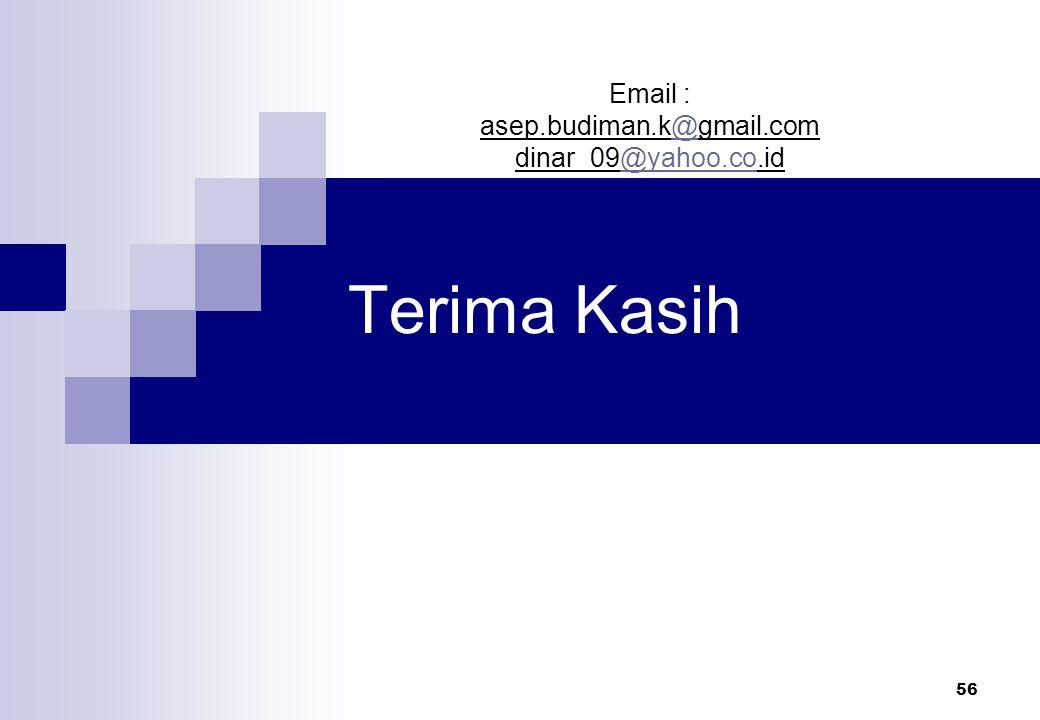 56 Terima Kasih Email : asep.budiman.k@gmail.com@ dinar_09@yahoo.co.id@yahoo.co