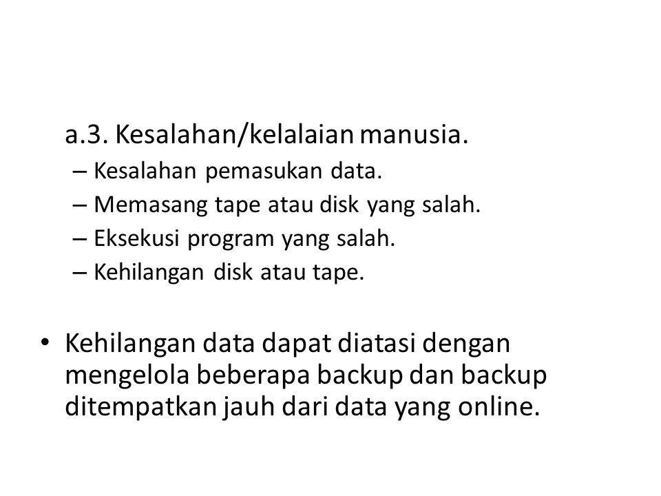 b.Penyusup (hacker) Terdiri dari : – Penyusup pasif, yaitu yang membaca data yang tak diotorisasi.