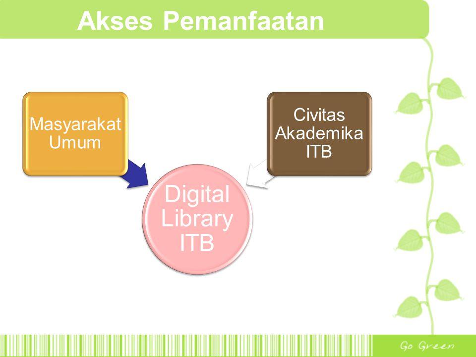Akses Pemanfaatan Digital Library ITB Masyarakat Umum Civitas Akademika ITB