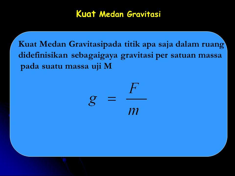 Medan Gravitasi Model Medan Gravitasi