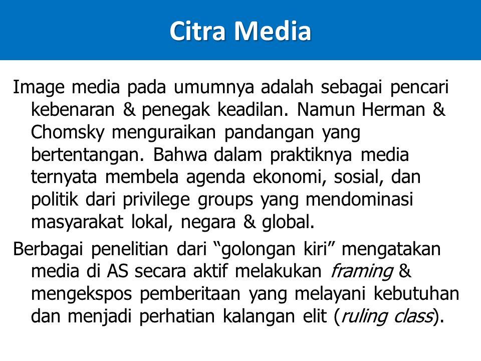 Citra Media Image media pada umumnya adalah sebagai pencari kebenaran & penegak keadilan.