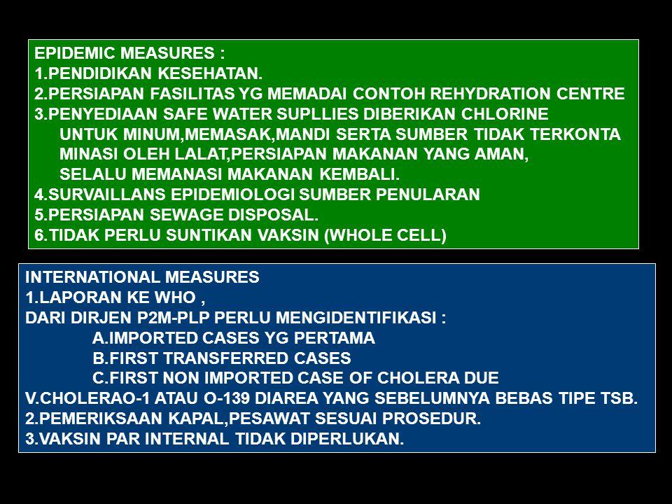 EPIDEMIC MEASURES : 1.PENDIDIKAN KESEHATAN.