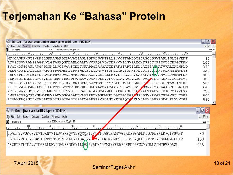 Terjemahan Ke Bahasa Protein 7 April 2015of 2118 Seminar Tugas Akhir